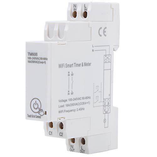 100-240 V WiFi Smart Timer Meter Einphasen-Digital-Timer Fernbedienung Energiezähler 16A 2,4 GHz