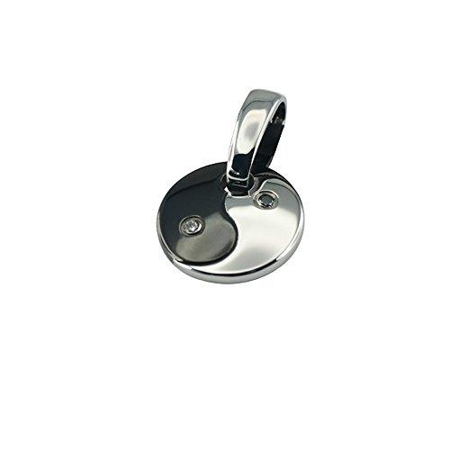 Edler Magnet Kettenanhänger im Yin Yang Design mit Swarovski Elements Energetix 4 You 1372 + Magnetix Anhängerclip 1468/1961