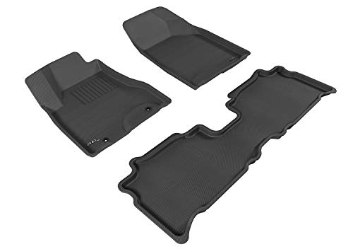 3D MAXpider Complete Set Custom Fit All-Weather Floor Mat for Select Lexus RX350/330 Models - Kagu Rubber (Black)