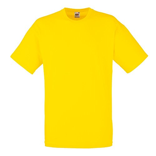 Fruit of the Loom - Classic T-Shirt 'Value Weight' Large,Yellow