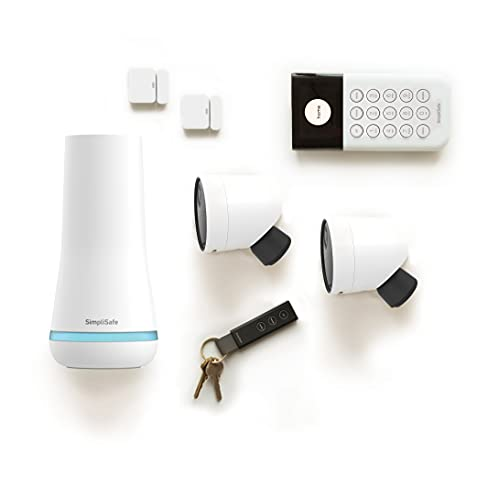 SimpliSafe 7 Piece Wireless Outdoor Camera Home Security System - Optional 24/7 Professional Monitoring - No Contract - Compatible with Alexa and Google Assistant