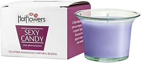 Sexy Candy Vela Beijável 40g – Hot Flowers Sabor:Vinho