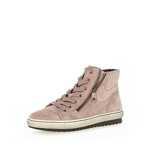 Gabor Damen High-Top Sneaker, Frauen Sneaker high,Sportschuhe,Freizeitschuhe,Turnschuhe,Laufschuhe,Women's,Woman,Lady,Ladies,Dark-Rose,35 EU / 2.5 UK