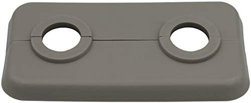 5 Stück Doppel-Rosette für Heizungsrohre in anthrazitgrau (RAL 7016), Abdeckung für Heizungsrohre, Heizung, 2-teilig, 15mm, 16mm, 18mm, 21,3mm Polypropylen in Sonderfarben (15mm, RAL 7044)