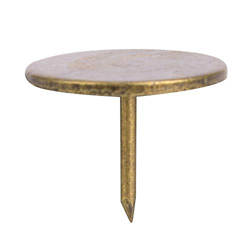 Tachuelas de tapicería de 100 Uds, Clavos para muebles de uñas de espuma de sofá, tachuelas de Metal de bronce antiguo para sofá, silla, caja de cama, decoración(19 x 15 mm)