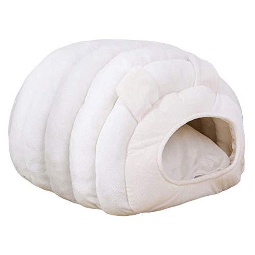 SCDCWW Cómoda cama del gato de casa cueva, mascota cachorro cama nido cama del animal doméstico de la perrera cueva oruga en forma de nido de hámster algodón arena for gatos perro pequeño nido cerrado