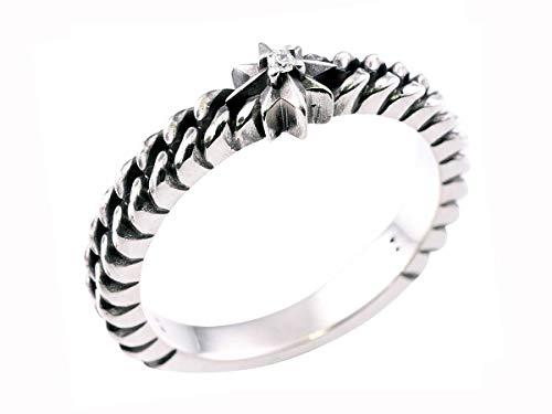 DEAL DESIGN ディールデザイン シルバー リング 指輪 クラストチェーン ストーン メンズ レディース 5〜23号 394231
