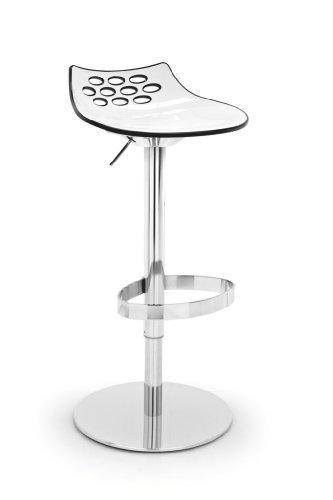 Calligaris Barhocker Jam CS/1035 - in weiß/schwarz glänzend höhenverstellbar
