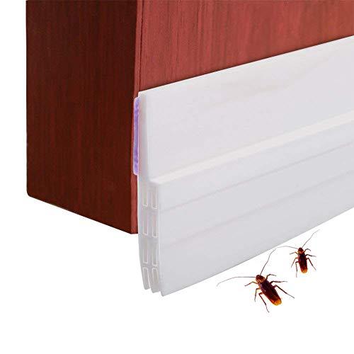 Dricar Türdichtung Tür-Boden-Dichtungs-Streifen Schalldichtung Fensterdichtung, Warme und Kälte Blocker 5cm Breite x100cm Länge (weiß)