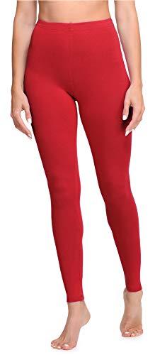 Ladeheid Leggins Largos Mallas Deportivas Mujer LA40-133 (Rojo, XS)