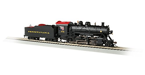 Bachmann Baldwin 2-8-0 DCC Sound Value Equipped Locomotive - PENNSYLVANIA #7748 - HO Scale, Prototypical black with Red Roof