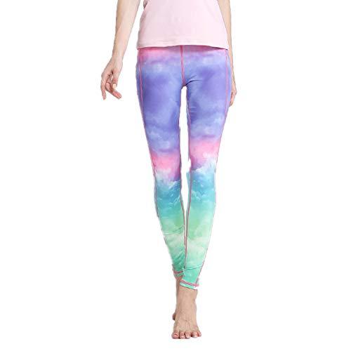 NIGHTMARE Control de Barriga Pantalones de Yoga Control de Barriga, Leggings de Entrenamiento para Correr para Mujeres Entrenamiento Correr Estiramiento M