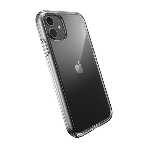 Speck Presidio Perfect-Clear - Custodia per iPhone 11 con rivestimento MICROBAN, trasparente
