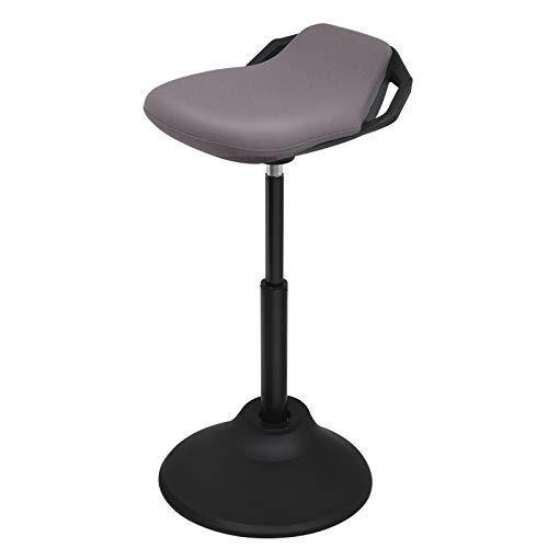 Amoiu Bureaustoel, ergonomische bureaustoel, managersstoel met gevoerde armleuningen en hoofdsteun, in hoogte verstelbaar, 360 graden draaibare bureaudraaistoel, kunstleer, kleur grijs