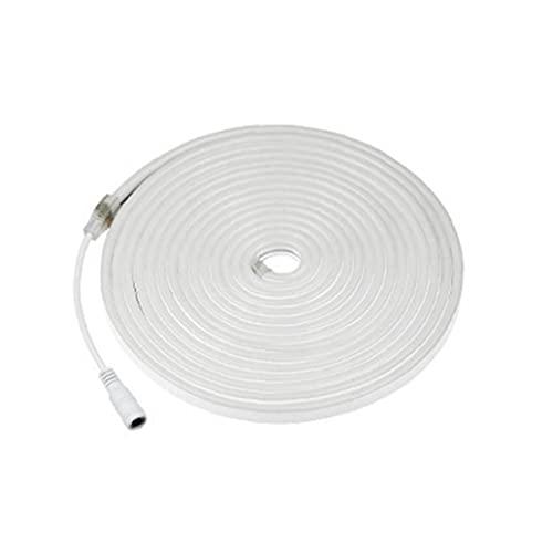 LED Luces de Tira Flexible de luz de neón del Tubo de la Cuerda de la lámpara 12V CC Impermeable para 200cm Aire Libre Ambiental Decoración Azul Claro