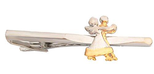 Unbekannt Tanzpaar Krawattenklammer Krawattennadel Tanzsport Bicolor glänzend inkl. Geschenkbox