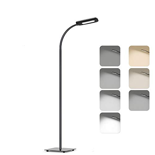 Lampada da Pavimento Lampada a Stelo in LED, Paralume Classico Semplice per Soggiorno, Camera da letto e altre stanze
