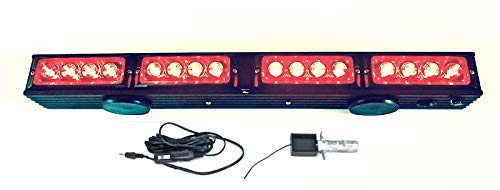 21.5' Wireless Tow Light Bar with Red LED Stop/Tail/Turn Signal LEDs, High Power Magnetic Base and 4pin Round Transmitter