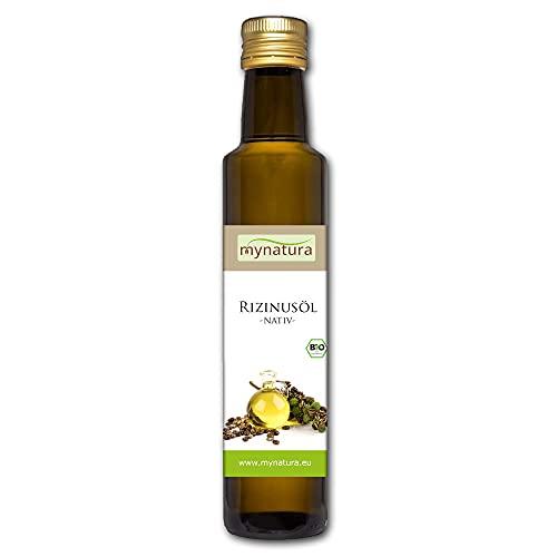 Mynatura Bio Rizinusöl 250ml I Natürlich Rein I Kaltgepresst I Pflanzlich I Naturkosmetik I Haaröl I Pflegeöl (1 x 250ml)