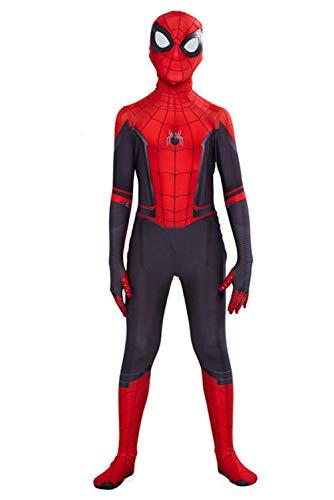 helymore Halloween Mono de Superheroe de Cosplay de Pelicula Jumpsuit Ajustado con Estampado de Arana, Altura Adecuada 140cm-150cm
