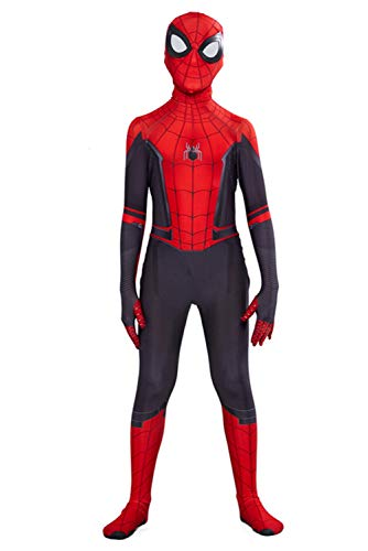 Xiemushop Kinder Kostüm Peter Parker Uniform Jumpsuit Overall Bodysuit Outfit Cosplay Kostüm