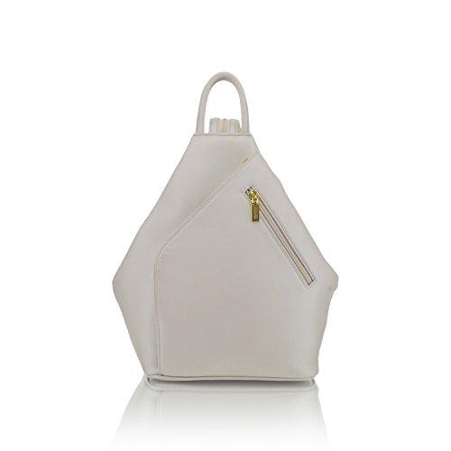 Joker Leather White designer handmade leather woman backpack. (White)