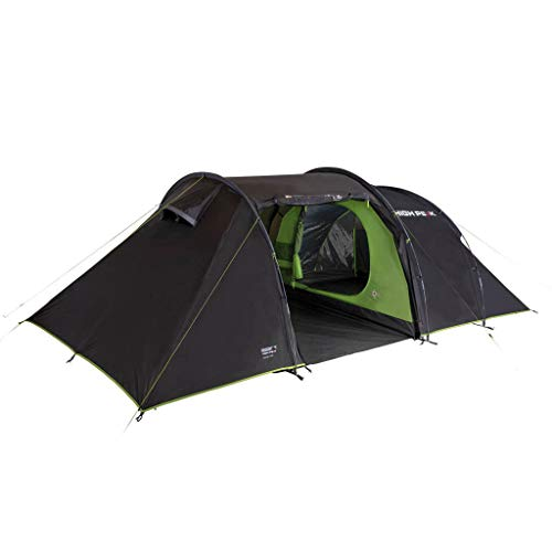 High Peak Family Tent VIS-A-VIS 6 Person Camping Tent 3,000 mm Waterproof with Dome and Storage Space Large Festival Tent with 2 Spacious Sleeping Cabins UV 80 Sun Protection Inner Tent Darkened