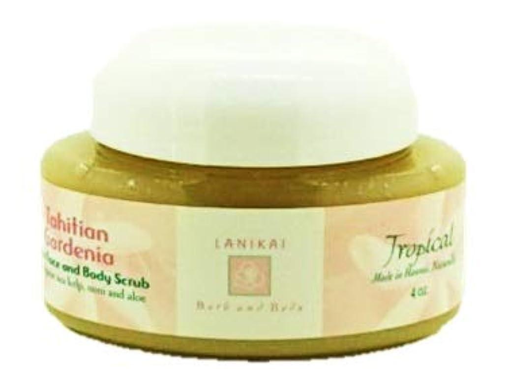 入浴黙美的LANIKAI Tahituian Gardenia Body Scrub ラニカイ タヒチアン ガーデニア ボディスクラブ 4oz