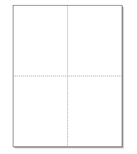 """W-2 and 1099-R Forms Blank Paper 4-Up Version""""NO Instructions on Back"""" for Laser and Ink Jet Printer (1 Pack - 100 Sheets)"""
