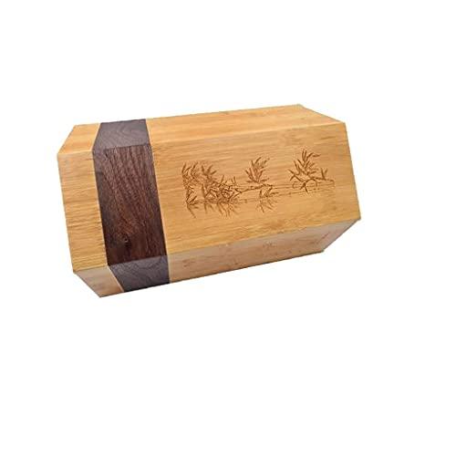 TNSYGSB Soporte de Cuchilla cilíndrica magnética Vertical, Bloques de Cuchillos de bambú de bambú para Sujetador de utensilio de Cocina para Casas Cuchillos Cocina
