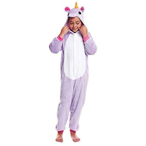 Pijamas Enteros de Animales Niñas y Niños Unisex【Tallas Infantiles 3 a 12 años】 Disfraz Pijama Unicornio Niña Purple Mono Enterizo Carnaval Fiestas【Talla 7-9 años】