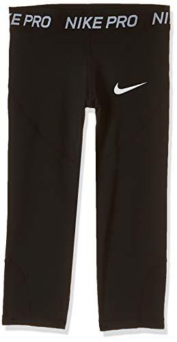 Nike Mädchen G NP CPRI Sport Trousers, Black/Black/Black/(White), L