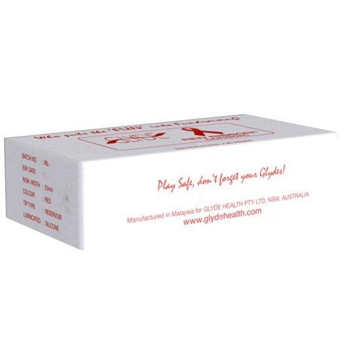 Glyde Ultra veganistische condoom 100er rood