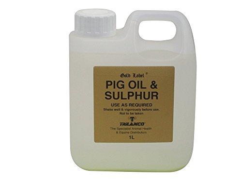 Gold Label Varkensolie en zwavel voor paard, 1 liter