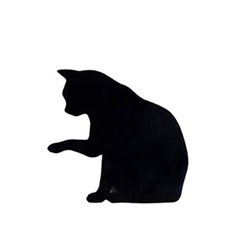 Uonlytech - Lámpara LED de pared con sensor de sonido inalámbrico, diseño de gato, color negro