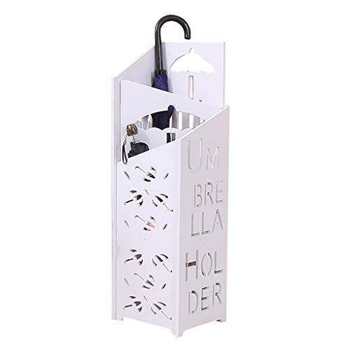 Porte Parapluies en M/étal Carr/é Support pour Parapluies avec Crochets Rangement de Parapluies Porte-parapluies Durable Conception Creuse Porte-parapluies Moderne pour Maison Bureau 16 x 16 x 49 cm