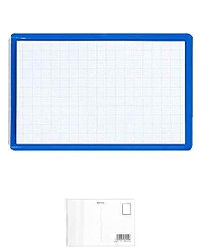 コクヨ 名刺型ソフト名札 安全ピン・クリップ両用 青10個 + 画材屋ドットコム ポストカードA