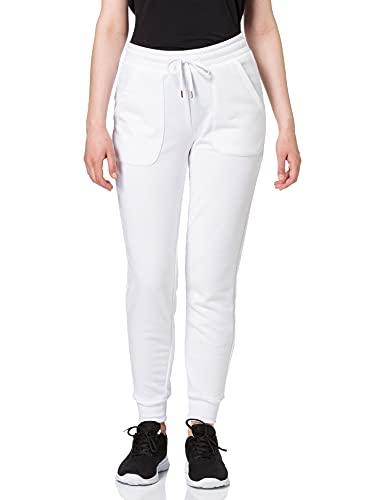 Marque Amazon - AURIQUE Jogger - Pantalon - Femme, Blanc (White), 40, Label:M
