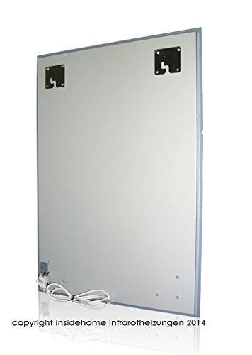 Infrarotheizung Spiegel – Heizung rahmenlos mit eingebautem LED – Licht 400 Watt – kaufen  Bild 1*