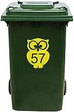 Kliko Sticker/Vuilnisbak Sticker - Nummer 57-17 x 22 - Geel