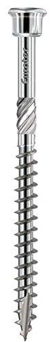 EUROTEC Terrassenschraube Zylinderkopf 4.5x70 TX20 mart.Edelstahl gehärtet mit Zulassung, 200 Stück,905522