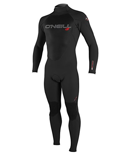 O'Neill Youth Epic 3/2mm Back Zip Full Wetsuit, Black/Black/Black, 8
