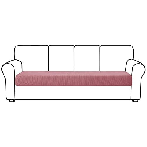 Orumrud Elástico Poliéster Sofá Elástico Duradero Cojín Fundas Protectoras De Muebles Funda Deslizante para Sofá Asiento De Sofá para Reemplazo En Sala De Estar (Color : Pink, Tamaño : 4 Seater)