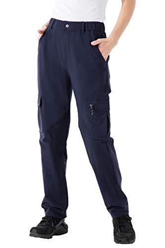 donhobo Damen Outdoorhose Wanderhose Quick Dry Campinghose Ultraleichter Verschleißfester UV-Schutz Trekkinghose Funktionshose (Navy, XL)