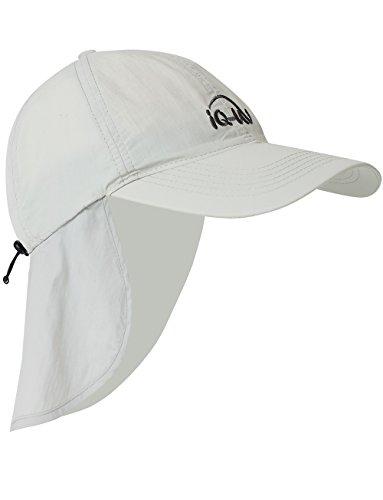 iQ-UV Erwachsene 200 Sonnenschutz Cap mit Nackenschutz Uv-Schutz Kappe, grau, 55-61cm