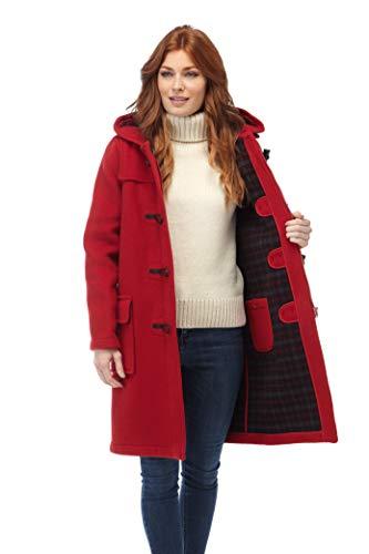 Original Montgomery Damen Duffle Toggle Coat rot 42