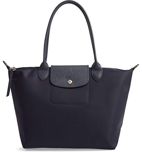 Longchamp 'Small Le Pliage Neo' Nylon Tote Shoulder Bag, Navy