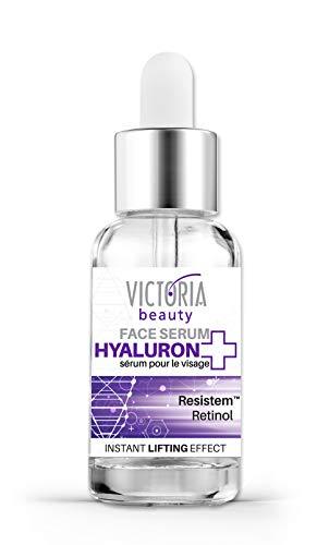 Victoria Beauty - Anti Aging Retinol Serum mit Hyaluronsäure und Resistem, Hyaluron Serum hochkonzentriert, Lifting Gesichtsserum (1 x 20 ml)