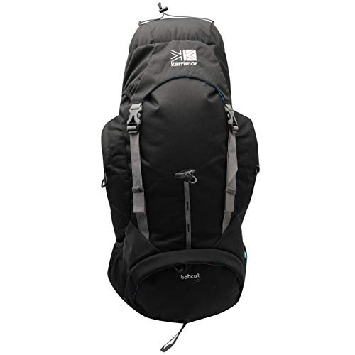 Karrimor Unisex Bobcat 65 Rucksack Trekking Pack Lightweight Hooded Zip Mesh Black/Charcoal One Size
