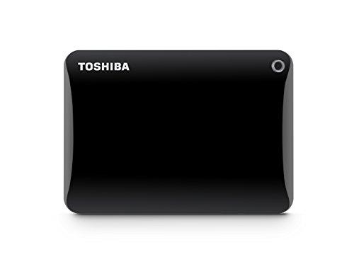 Toshiba Canvio Connect II 3TB Portable Hard Drive, Black (HDTC830XK3C1)